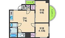 オーナーズマンション阪南[401号室]の間取り