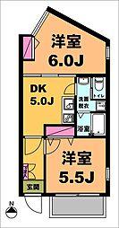 東京都品川区荏原7丁目の賃貸マンションの間取り