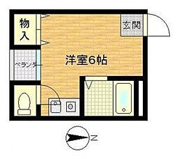 ビルシャナ上田[203号室号室]の間取り