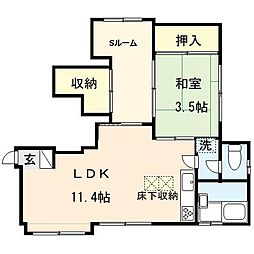 青木アパート[102号室]の間取り