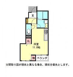 愛知県一宮市浅野字馬東の賃貸アパートの間取り