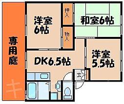広島県広島市安芸区矢野南4丁目の賃貸アパートの間取り