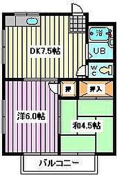 埼玉県戸田市上戸田4丁目の賃貸アパートの間取り
