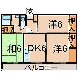 福島県福島市鎌田字橋本の賃貸アパートの間取り