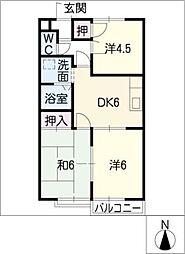 ビューハイツ有松A棟[2階]の間取り