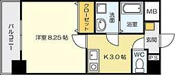 紺二ビル[803号室]の間取り