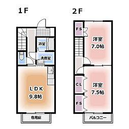 [テラスハウス] 愛知県清須市寺野 の賃貸【/】の間取り