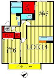 ラシュレメゾン・A[2階]の間取り