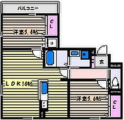 ARUKAS(アルカス)[1階]の間取り