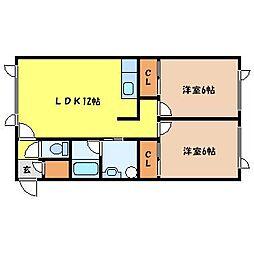 北海道札幌市北区新琴似四条1丁目の賃貸アパートの間取り