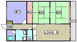 シャルム船橋[3階]の間取り