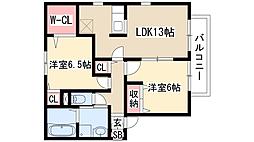 レジデンス神ノ倉 A棟[2階]の間取り