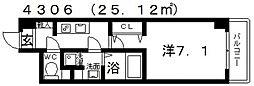 シェモア藤井寺[304号室号室]の間取り