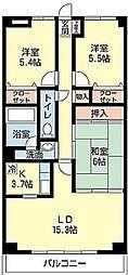 CASSIA 緑ヶ丘[       8階号室]の間取り