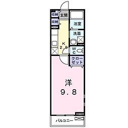 ボヌール レイワB(アパート) 2階1Kの間取り