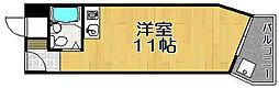 兵庫県宝塚市小林3丁目の賃貸マンションの間取り