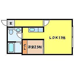 北海道札幌市北区北二十条西8丁目の賃貸マンションの間取り