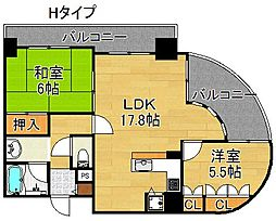 住之江フタバビル[8階]の間取り
