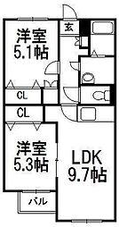 NEST円山[101号室]の間取り