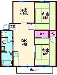 池ノ上マンションB棟[1階]の間取り