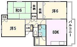 コーポ松崎II[1階]の間取り