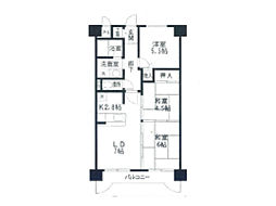 JR東海道本線 甲南山手駅 7階建[306号室]の間取り