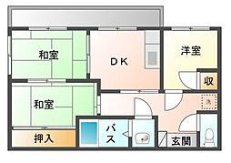 静岡県駿東郡清水町柿田の賃貸アパートの間取り