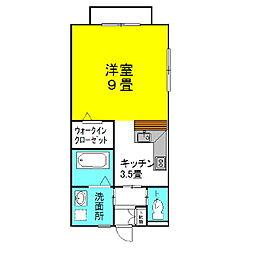 茨城県神栖市大野原4丁目の賃貸アパートの間取り