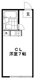 山口コーポ[202号室]の間取り