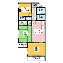 文教台ロイヤルハイツ[2階]の間取り