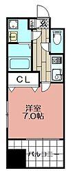 エンクレスト博多駅前III(1203)[1203号室]の間取り