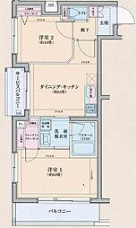東京都大田区仲池上1丁目の賃貸マンションの間取り