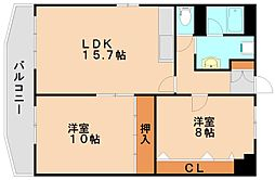 アネト春日原[4階]の間取り