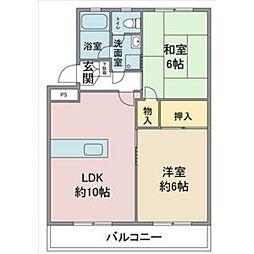 愛知県名古屋市名東区上社1の賃貸マンションの間取り