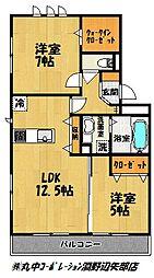 エスポワールメゾン[2階]の間取り