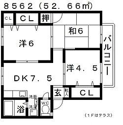 ALLEY島泉131(アレイ島泉131)[B202号室号室]の間取り