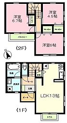 [一戸建] 茨城県牛久市ひたち野西2丁目 の賃貸【/】の間取り