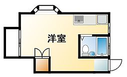 千葉県いすみ市岬町江場土の賃貸アパートの間取り