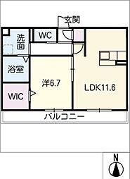 仮)D-room大垣市今宿 1階1SLDKの間取り