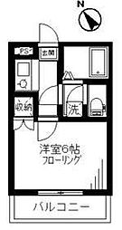 神奈川県秦野市春日町の賃貸アパートの間取り