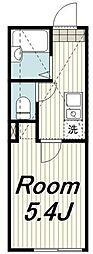 JR京浜東北・根岸線 本郷台駅 徒歩11分の賃貸アパート 2階1Kの間取り