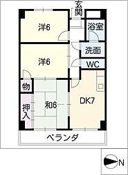 マンション藤丸[3階]の間取り