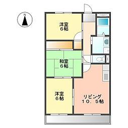 サワダハイツ[2階]の間取り