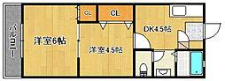 浜武シティービル[3階]の間取り