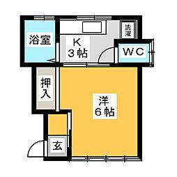 白鴎館A[2階]の間取り
