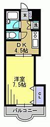 ピア西蒲田[1階]の間取り
