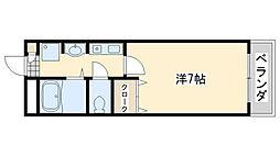 大阪府泉佐野市羽倉崎1丁目の賃貸マンションの間取り