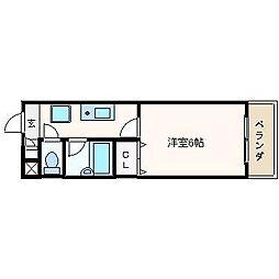 クロシオハイツⅤ[2階]の間取り