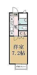 第5キエイ[205号室]の間取り