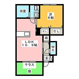 TIARAI[1階]の間取り